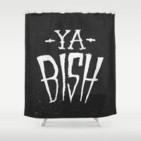 kendrick lamar Shower Curtains featuring Ya Bish by Bobby Jeffries