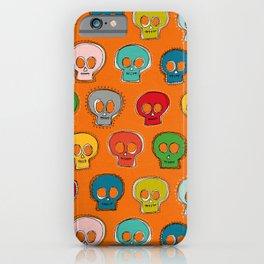 sew skully orange iPhone Case