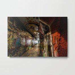 Stranger in Tunnel Metal Print