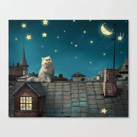 Star Cat Canvas Print