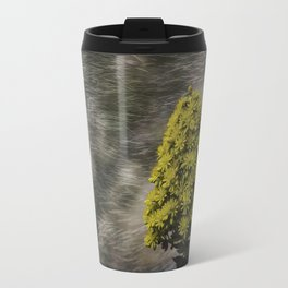 Blooming flowers with texture and vignette Travel Mug
