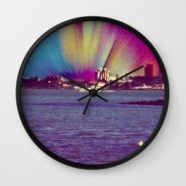Rainbow City Wall Clock
