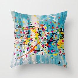Confetti: Super Fun Dot Abstract Throw Pillow