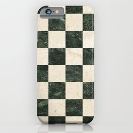 Marbles checked vintage illustration pattern iPhone Case