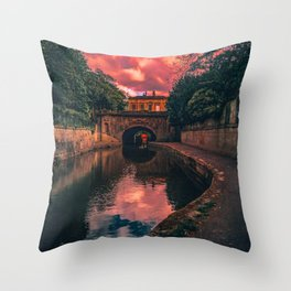 Bath Somerset sunset artb Throw Pillow