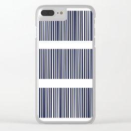 Blue- White- Stripe - Stripes - Marine - Maritime - Navy - Sea - Beach - Summer - Sailor 6 Clear iPhone Case