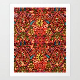 aziza fire Art Print