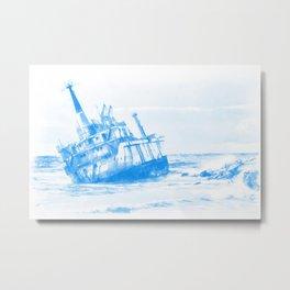 shipwreck aqrewb Metal Print