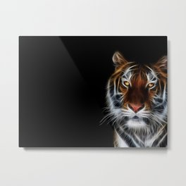 Tiger on black Metal Print
