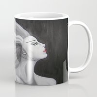 bride Mugs featuring Bride by October James
