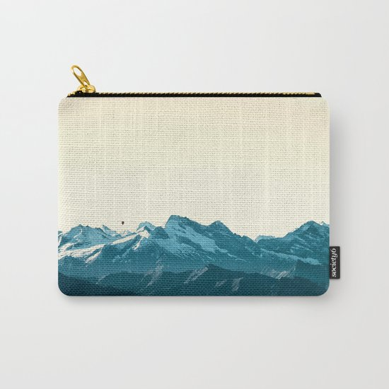 turquoise mountainscape Carry-All Pouch