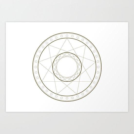 Anime Magic Circle 14 Art Print