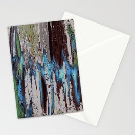 Merging Colors Abstract Stationery Cards