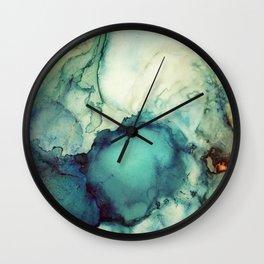 Teal Abstract Wall Clock