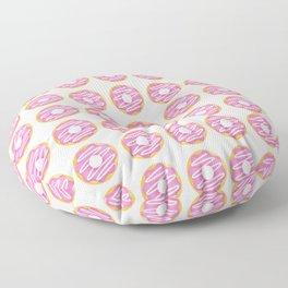 Pink Donut Pattern Floor Pillow