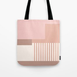 Sol Abstract Geometric Print in Pink Tote Bag