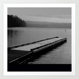 Suttle Lake in Gray and Black Art Print
