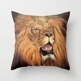 Brave Lion Throw Pillow