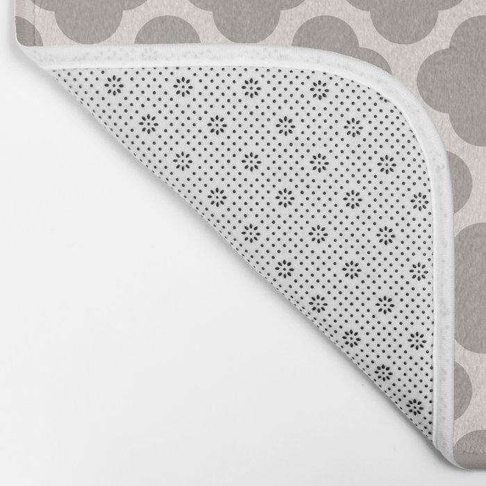 gray clover Bath Mat