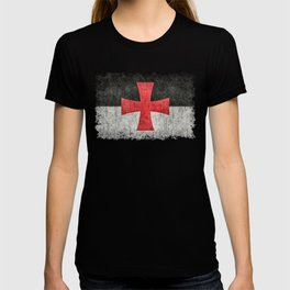 Knights Templar Symbol with super grungy textures T-shirt