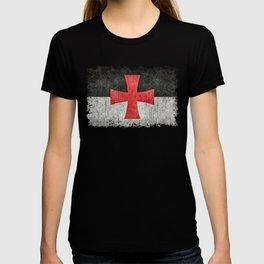 Knights Templar Symbol in grungy textures T-shirt