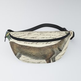 western country fairy rustic woodland nursery winter pine forest animal fox Fanny Pack