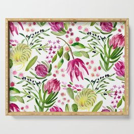 Protea Flower Bloom Serving Tray