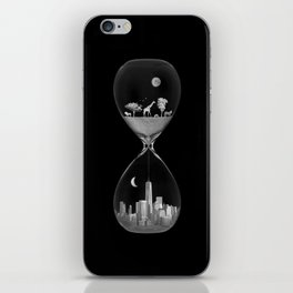 THE EVOLUTION OF THE WORLD b/w iPhone Skin