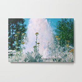 Flowers and Fountains #1 Metal Print
