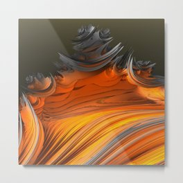 Still Burning Metal Print