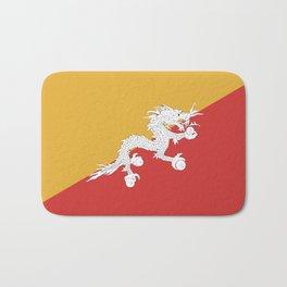 Bhutan flag emblem Bath Mat