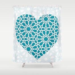 Islamic Heart Design Shower Curtain