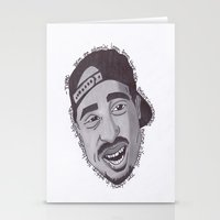 "tupac Stationery Cards featuring Tupac ''State Of Mind"" by SkilledCreativity"