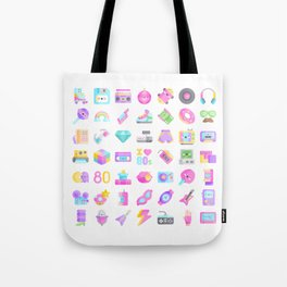CUTE '80S PATTERN (RETRO THROWBACK EIGHTIES) Tote Bag