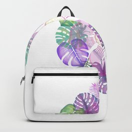 Tropical Spring Flower Water Colour Painting Backpack