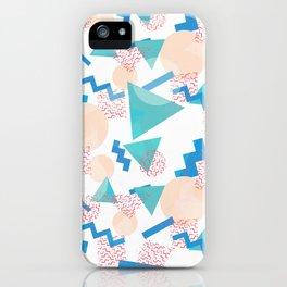 90's Pastel Geometric Pattern iPhone Case