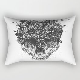 My head is a jungle (b&w) Rectangular Pillow
