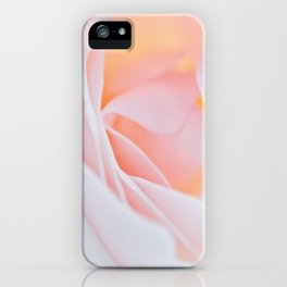 Tender rose macro photography iPhone Case