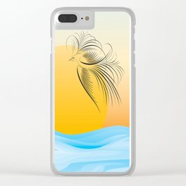Flying bird - calligraphy Clear iPhone Case