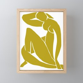 Matisse Cut Out Figure #2 Mustard Yellow Framed Mini Art Print