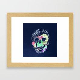Chalk Art Skull Framed Art Print