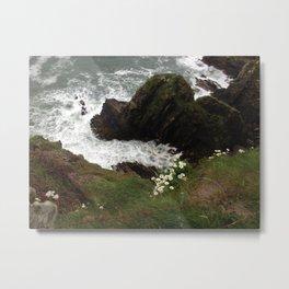 On the Cliffs Metal Print