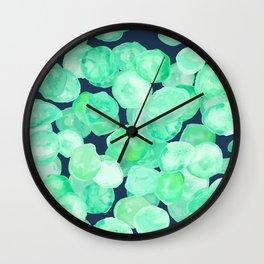 Nasturtium drift abstract Wall Clock