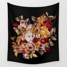 Watercolor Floral Pattern Wall Tapestry