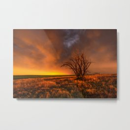 Fascinations - Warm Light and Rumbles of Thunder in Oklahoma Metal Print