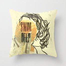 Swim Deep Throw Pillow