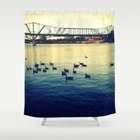 river Shower Curtains featuring River by kingseyb