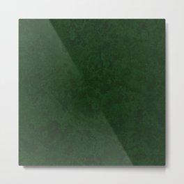 Marble Granite - Dark Emerald Green Metal Print