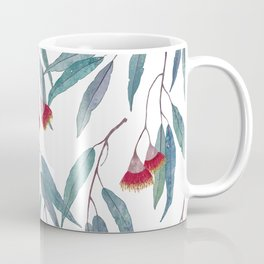 Eucalyptus leaves and flowers on light Coffee Mug