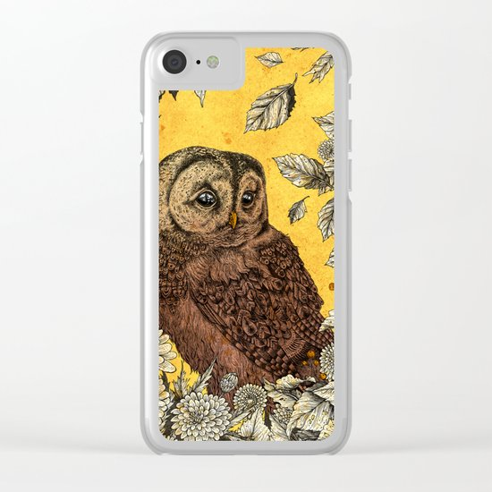 Tawny Owl Yellow Clear iPhone Case